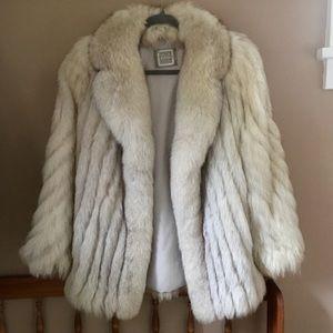 Vintage PD FURS SAGA FOX Genuine Blue Fox Fur Coat